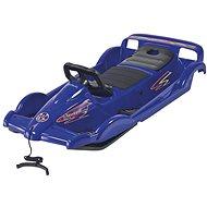 ALPEN GAUDI Double Race with steering wheel, blue - Sledge