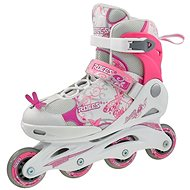 Roces Compy 6.0 Girl, White-Pink, size 34-37 EU/215-235mm - Roller Skates