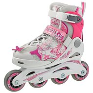 Roces Compy 6.0 Girl, White-Pink, size 30-33 EU/190-210mm - Roller Skates