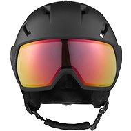 Salomon Pioneer Visor, Photo Blk/AW Red - Ski Helmet