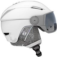 Salomon Icon2 Visor, White/Univ Silver - Ski Helmet