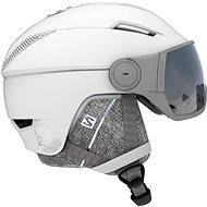 Lyžařská helma Salomon Icon2 Visor White/Univ Silver vel. M (56-59 cm)