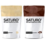 Saturo Powder (Vegan), 1430g, chocolate + Saturo Powder (Vegan), 1430g, vanilla