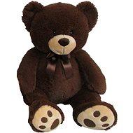 Plyšový medvídek 60 cm, tmavě hnědý - Plyšový medvěd