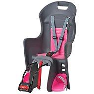 Polisport Boodie šedo-růžová - Dětská sedačka na kolo