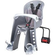 POLISPORT Bilby Junior šedo-stříbrná zadní uchycení - Dětská sedačka na kolo