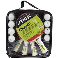 Stiga Set Champ 4-play - 4 bats and 8 balls - Table tennis set
