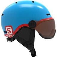 Salomon Grom Visor Blue - Juniorská lyžařská helma