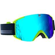 Salomon Xview Acid Lime/Solar Blue - Lyžařské brýle