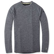 Smartwool M Merino 250 Baselayer Pattern Crew Medium Gray Tick Stitch - Tričko