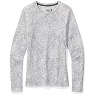 Smartwool W Merino 250 Baselayer Pattern Crew, Light Grey Traced Dahlia - T-Shirt