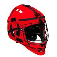 Unihoc maska Shield neon red/black - Florbalová maska