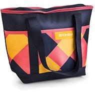 Spokey ACAPULCO Termo taška malá, růžovo-modro-žlutá, 39 x 15 x 27 cm - Termotaška