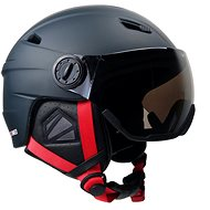 Storm Red Visor, Black - Ski Helmet