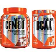 Extrifit CFM Instant Whey 80, 1000g , chocolate + Extrifit BCAA Instant 300 g orange - Proteinová sada
