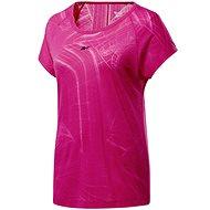 Reebok BURNOUT TEE pink - Tričko
