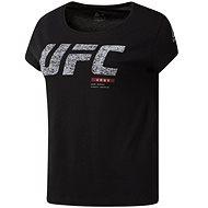Reebok UFC Fight Gear, černá/bílá vel. S - Tričko