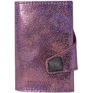 Tru Virtu Click & Slide - kožená Glitter Rosé - Peněženka