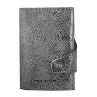 Tru Virtu Click & Slide - kožená Glitter Silver - Peněženka