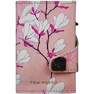 Tru Virtu  Click & Slide - 3D Cherry Blossom/Silver - Peněženka