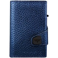 Tru Virtu Click & Slide Leather Wallet, Metallic Navy - Wallet