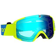 Salomon XVIEW Neon Yellow/Uni Mid Blue - Lyžařské brýle