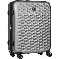 """Wenger Lumen 24"""" stříbrná - Cestovní kufr s TSA zámkem"""