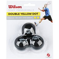 Wilson Staff Squash 3 Ball Double Yellow Dot - Squashový míč