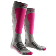 X-SOCKS - X-SOCKS SKI SILK-MERINO SOCKS LADY White/Grey/Beige - Dámské lyžařské ponožky