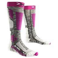 X-SOCKS - SKI RIDER 2.0 LADY Grey Melange Violet - Dámské lyžařské ponožky