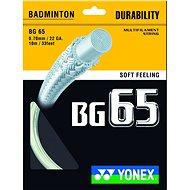 Yonex BG 65, White, 200m - Badminton Strings