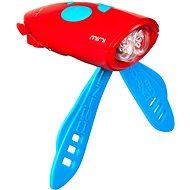 Mini Hornit Zábavná houkačka se světlem červená - Zvonek na kolo