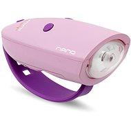 Zvonek na kolo Mini Hornit Nano Zábavná houkačka se světlem růžová