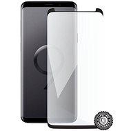 Screenshield SAMSUNG G965 Galaxy S9+ Tempered Glass Protection (black - CASE FRIENDLY) na disple - Ochranné sklo