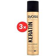 SYOSS Keratin Style Perfection 3× 300 ml - Lak na vlasy