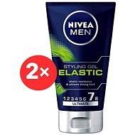 NIVEA Men Elastic Gel 2 × 150 ml - Gel na vlasy