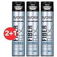 SYOSS Fiber Flex Volume  3× 300 ml - Lak na vlasy