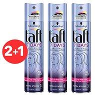 SCHWARZKOPF TAFT 7 Days Anti - Frizz Daily Finish Hairspray 3× 250 ml