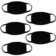 STX bavlněná rouška bez potisku - černá (5 ks) - Ústenka