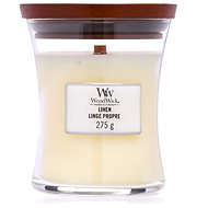 WOODWICK Linen Medium Candle 275 g - Svíčka