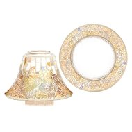 YANKEE CANLDE Gold and Peral shade and plate large - Candle Accessory