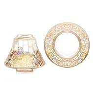 YANKEE CANLDE Gold and Peral shade and plate small - Candle Accessory