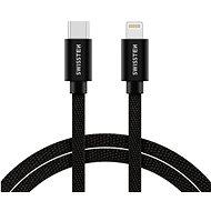Swissten textilní datový kabel USB-C/Lightning 2m černý - Datový kabel
