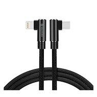 Swissten Arcade textilní datový kabel USB-C/Lightning 1.2m černý - Datový kabel