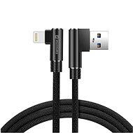 Swissten Arcade textilní datový kabel USB/Lightning 1.2m černý - Datový kabel