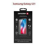 Swissten 3D Full Glue pro Samsung Galaxy S21 černé - Ochranné sklo