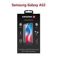 Swissten 3D Full Glue pro Samsung Galaxy A52 černé - Ochranné sklo