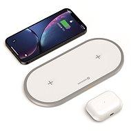 Swissten Wireless 2v1 bílá - Bezdrátová nabíječka