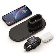 Swissten Wireless 3v1 černá - Bezdrátová nabíječka