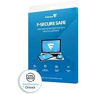 F-Secure SAFE DR pro 3 zařízení na 1 rok + Data Recovery pro 1 zařízení na 1 rok BOX - Antivirus